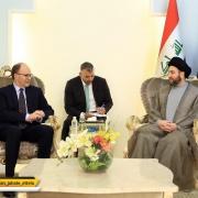 عمار حکیم در دیدار سفیر آمریکا در بغداد: تحریمها علیه ایران را مردود میدانیم
