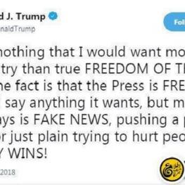 واکنش ترامپ به سرمقاله هماهنگی صدها روزنامه آمریکایی علیه سیاستهای ضدرسانهای خود