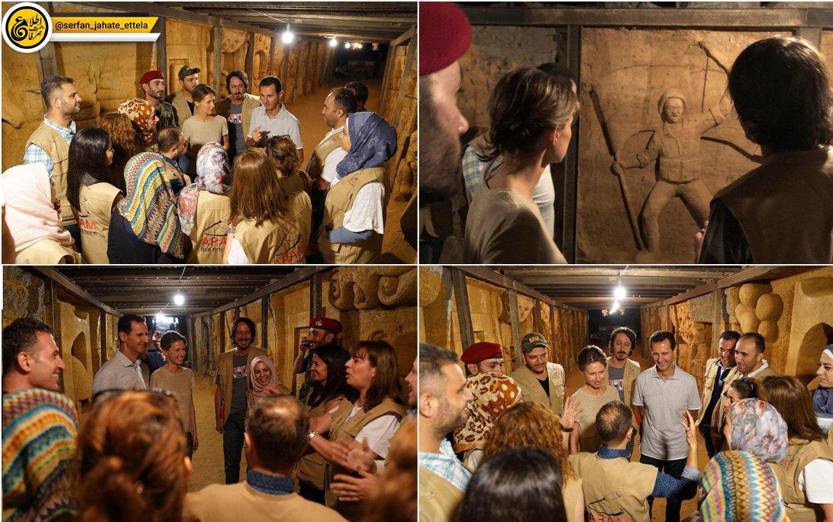 هنرمندان سوری، یکی از تونل های مرگ تروریستها را به موزهای از فداکاریهای سربازان گمنام تبدیل کردند