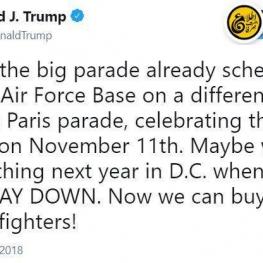 ترامپ پارسال رفت پاریس و رژه نظامی ارتش فرانسه را دید، برگشت گفت من هم یکی از این رژهها در واشنگتن میخوام