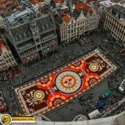 بروکسل، فرشی از گل با طرحی مکزیکی