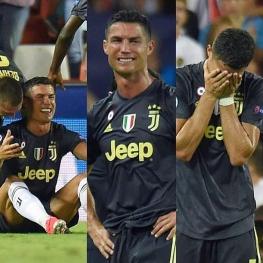 رونالدو براى اولين بار در ليگ قهرمانان اروپا پس از ١٥٤ بازى از زمين اخراج شد