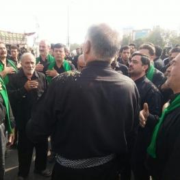سعید مرتضوی در عزاداری روز عاشورا در تفت