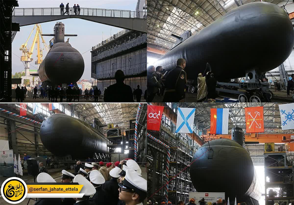 روسیه زیردریایی «روح دریا» را به آب انداخت