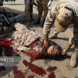 جانباز ۷۵ درصدجنگ تحميلي حاج حسين منجزي در حادثه تروريستي شهر اهواز به فيض شهادت نائل شد