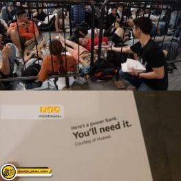 شرکت هوآوی در اقدامی جالب به مشتریانی که در اپل استور سنگاپور برای خرید آیفونهای جدید در صف ایستاده بودند پاوربانک هدیه داد