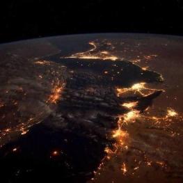 عکس هوایی ناسا از خلیج فارس