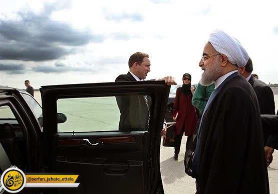 حسن روحانی رییس جمهوری کشورمان وارد نيويورک شد