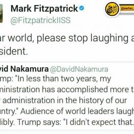 مارک فیتزپاتریک، تحلیلگر آمریکایی: جهانیان ارجمند، لطفاً به رییس جمهورم نخندید