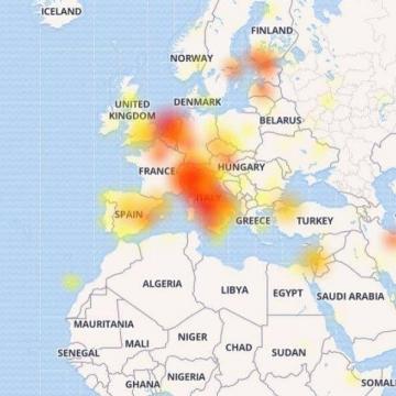 نقشه پراکندگی قطعی دیشب تلگرام