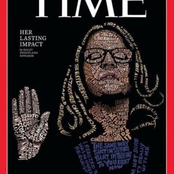 تصویر جلد مجله تایم؛ کریستین بلازی در حال سوگند در دادگاه پرونده تعرض برت کاوانا