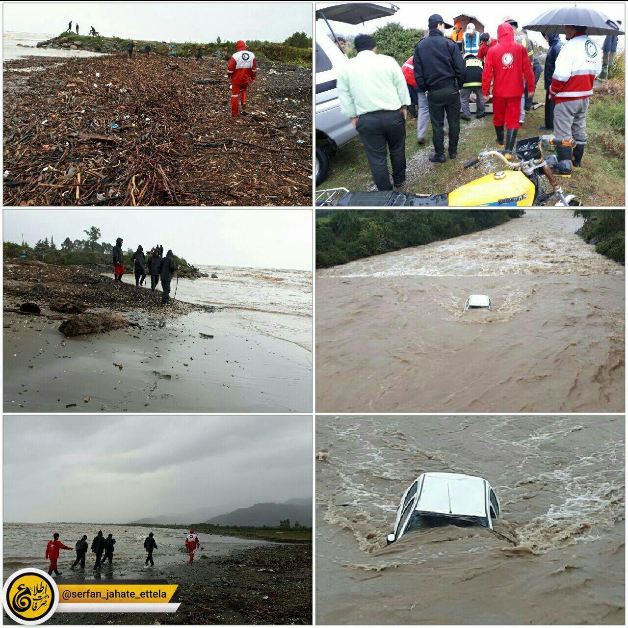 سقوط پژو ۲۰۶به رودخانه حویق تالش/۳نفر کشته و یک نفر مفقود شد