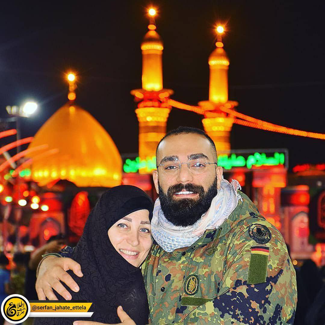 اینستاگرام گردی: حمید صفت به همراه مادرش در کربلا