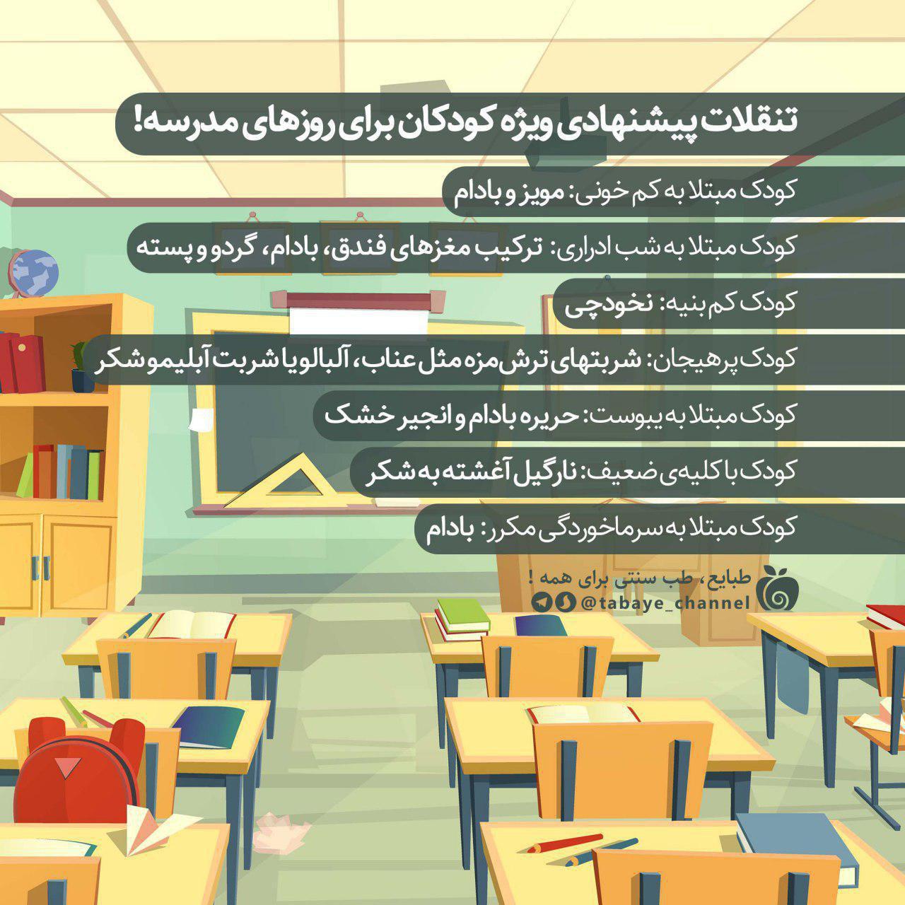 به مناسبت روز جهانی کودک تنقلات ویژه کودکان برای روزهای مدرسه!
