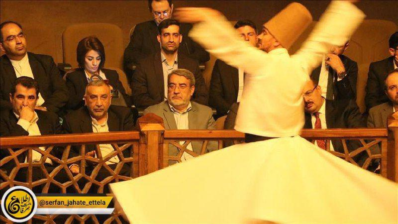 عبدالرضا رحمانی فضلی از مراسم رقص سماع گروه موسیقی تصوف قونیه دیدن کرد