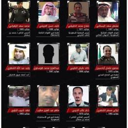 این فهرست از سوی منابع  امنیتی ترکیه  به عنوان فهرست عوامل ترور جمال خاشقجي دست به دست می شود