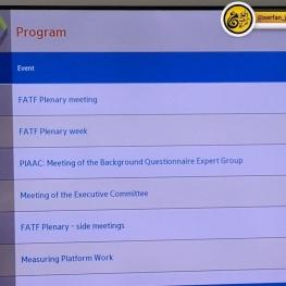 امروز جلسه گروه ویژه اقدام مالی (FATF) در پاریس در حال برگزاری هست