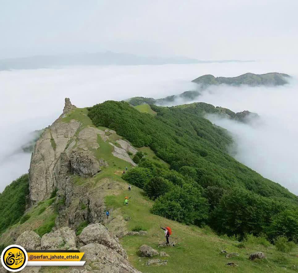طبیعت بی مثال مسیر قله اسپیناس، آستارا