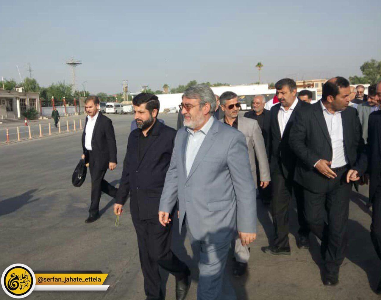 وزیر کشور به مرزهای چذابه و شلمچه رفت
