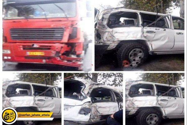 انتقاد شدید فرمانده پلیس راه از وضعیت ناایمن محور محل تصادف نوربخش