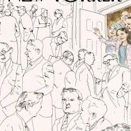 جلد جدید مجله نیویورکر پس از مشخص شدن چهرههای تازه اعضای کنگره آمریکا