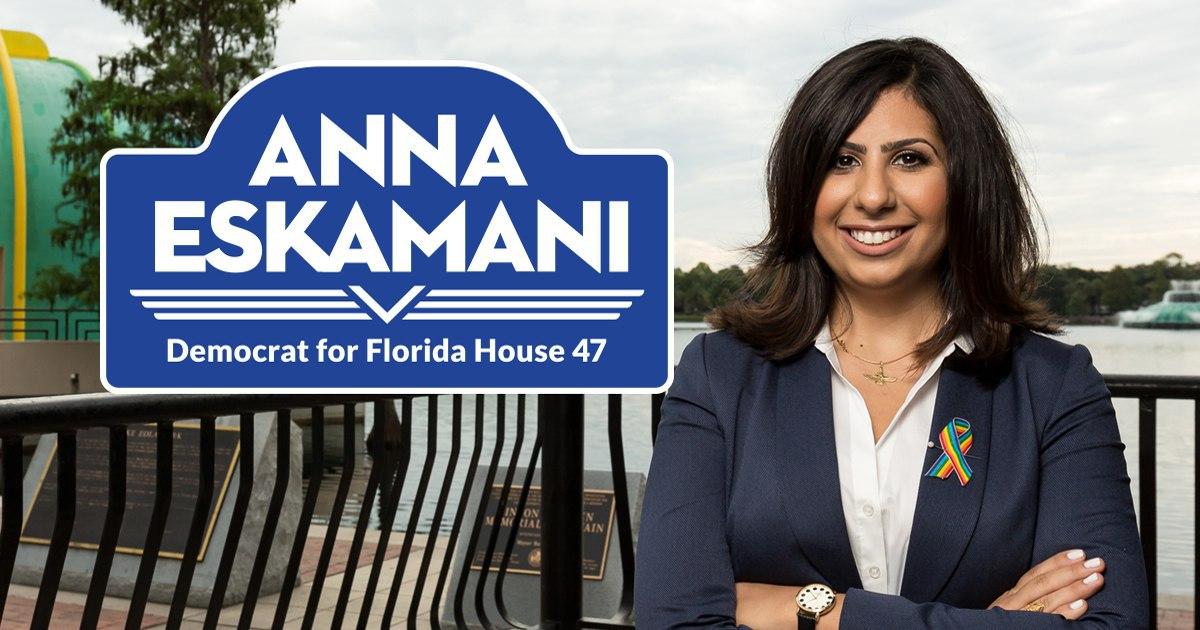 «آنا اسکیمانی» ایرانی تبار اولین ایرانی-آمریکایی است که توانست در منطقه ۴۷ مجلس ایالت فلوریدا پیروز شود
