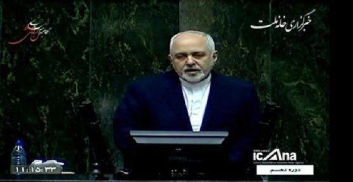 ظریف در مجلس در پاسخ به حاجی دلیگانی: