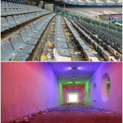 نمایی متفاوت از استادیوم آزادی یکروز بعد از فینال لیگ قهرمانان آسیا ۲۰۱۸