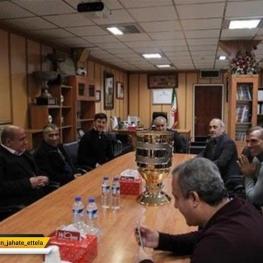 جام قهرمانی سوپرجام فصل ۹۷-۹۶ در سازمان لیگ فوتبال ایران به پرسپولیس اهدا شد