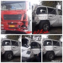 جزییاتی از تصادف خودروی وزیر کار/ ۳ معاون وزیر آسیب دیدند/ انتقال مصدومان به بیمارستان/ صدمه جدی به نوربخش