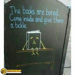 تبلیغ جالب یک کتاب فروشی