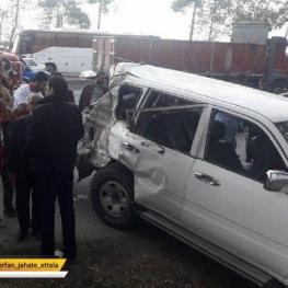 رییس پلیس راه گلستان، علت حادثه تصادف رانندگی خودرو دکتر نوربخش و تاج الدین را اعلام کرد