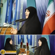 سخنرانی زهرا به عنوان سخنران پیش از خطبه های نماز جمعه تبریز
