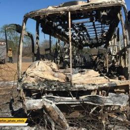 در پی آتش گرفتن یک دستگاه اتوبوس در جنوب پایتخت زیمبابوه