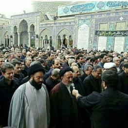پیکر مرحوم نوربخش در حرم عبدالعظیم(ع) به خاک سپرده شد