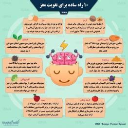 اینفوگرافی / ۱۰ راه ساده برای تقویت مغز