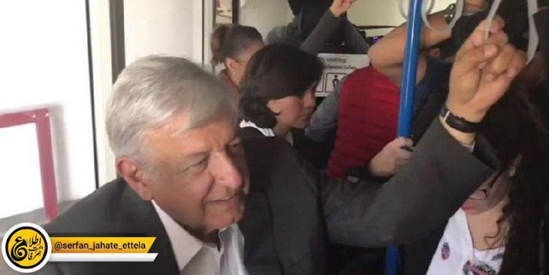 نخستین سفر استانی رییس جمهوری جدید مکزیک با استفاده از هواپیمای عادی- تجاری