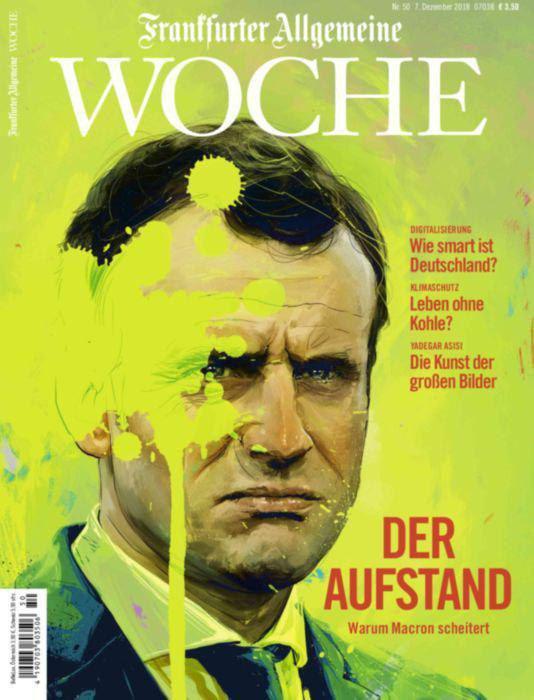 طرح جلد نشریه آلمانی فرانکفورترآلگماینه