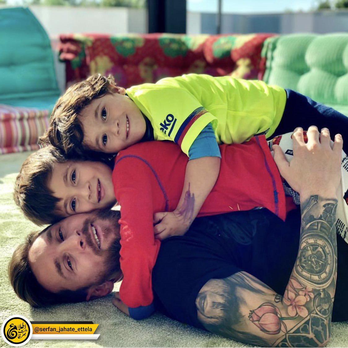 ایستاگرام گردی: لیونل مسی و فرزندانش