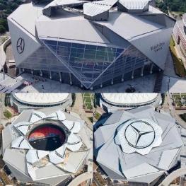 استادیوم زیبای مرسدس بنز در آتلانتا در عرض ۱۴ ماه ساخته شد.