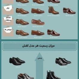 میزان رسمیت هر مدل کفش