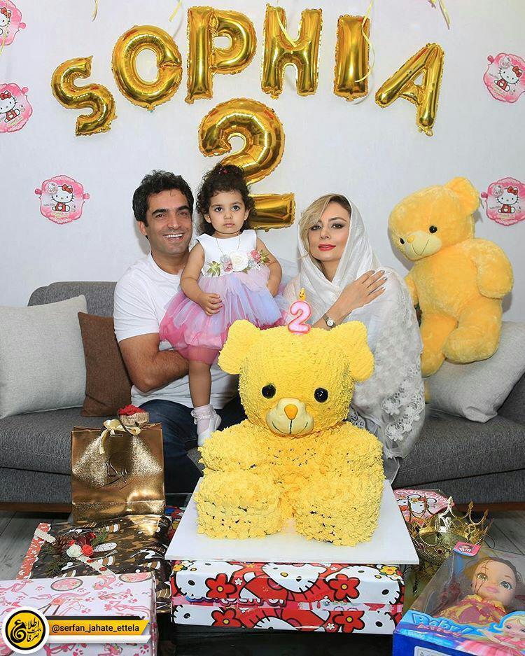 اینستاگرام گردی: تولد ۲ سالگی صوفیا فرزند منوچهر هادی و یکتا ناصر