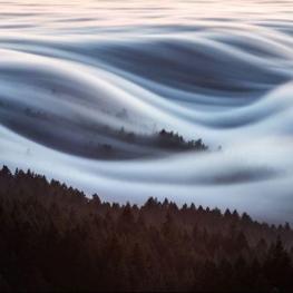 دریایی از ابر در شهر مارین (Marin) کالیفرنیا