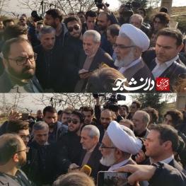 ویدیو/دادستان تهران در جمع دانشجویان معترض دانشگاه آزاد