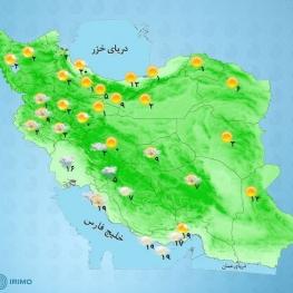 امروز و فردا در اغلب مناطق کشور بارش برف و باران و سرمای هوا پیشبینی میشود