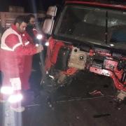 تصادف زنجیرهای ۸ خودرو در گرمسار