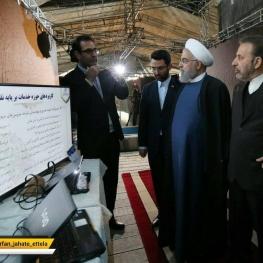 رئیس جمهور با حضور در وزارت ارتباطات و فناوری اطلاعات از نمایشگاه «کسب و کارهای آینده» بازدید کرد.