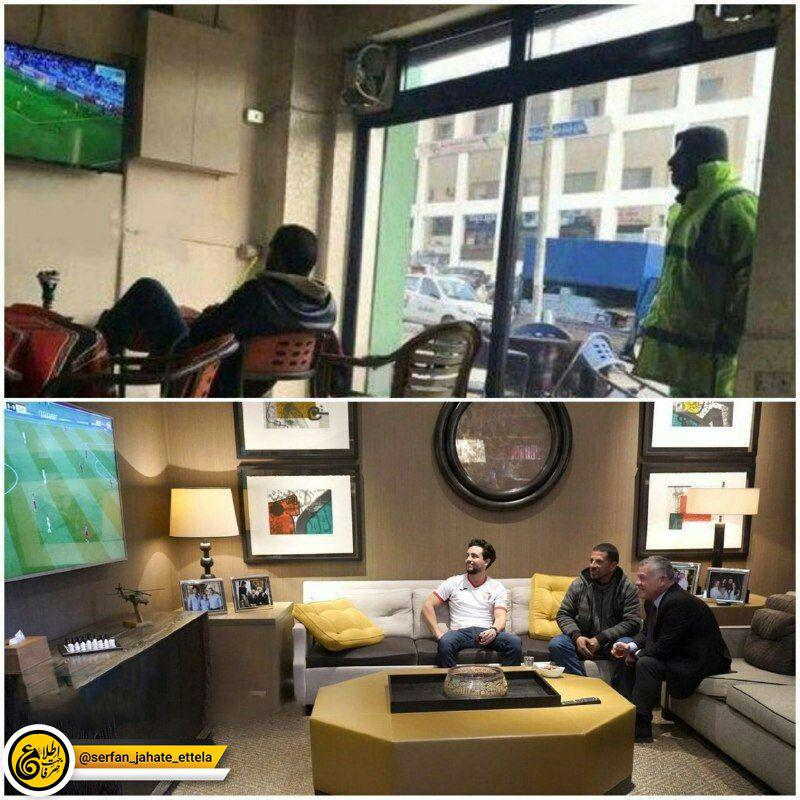 بعد از انتشار تصویر رفتگر اردنی در حال تماشای بازی تیم ملی کشورش با استرالیا پادشاه این کشور از این شخص دعوت کرد