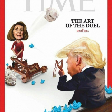 دعوای دونالد ترامپ و نانسی پلوسی سوژه طرح روی جلد نشریه TIME