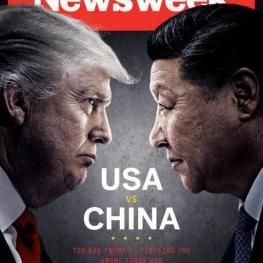 """طرح روی جلد شماره جدید هفتهنامه """"نیوزویک"""" به تقابل بین ترامپ و رییس جمهوری چین"""
